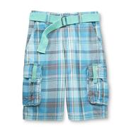 Route 66 Boy's Belt & Cargo Shorts - Plaid at Kmart.com