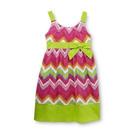 Basic Editions Girl's Sleeveless Sundress - Chevron at Kmart.com