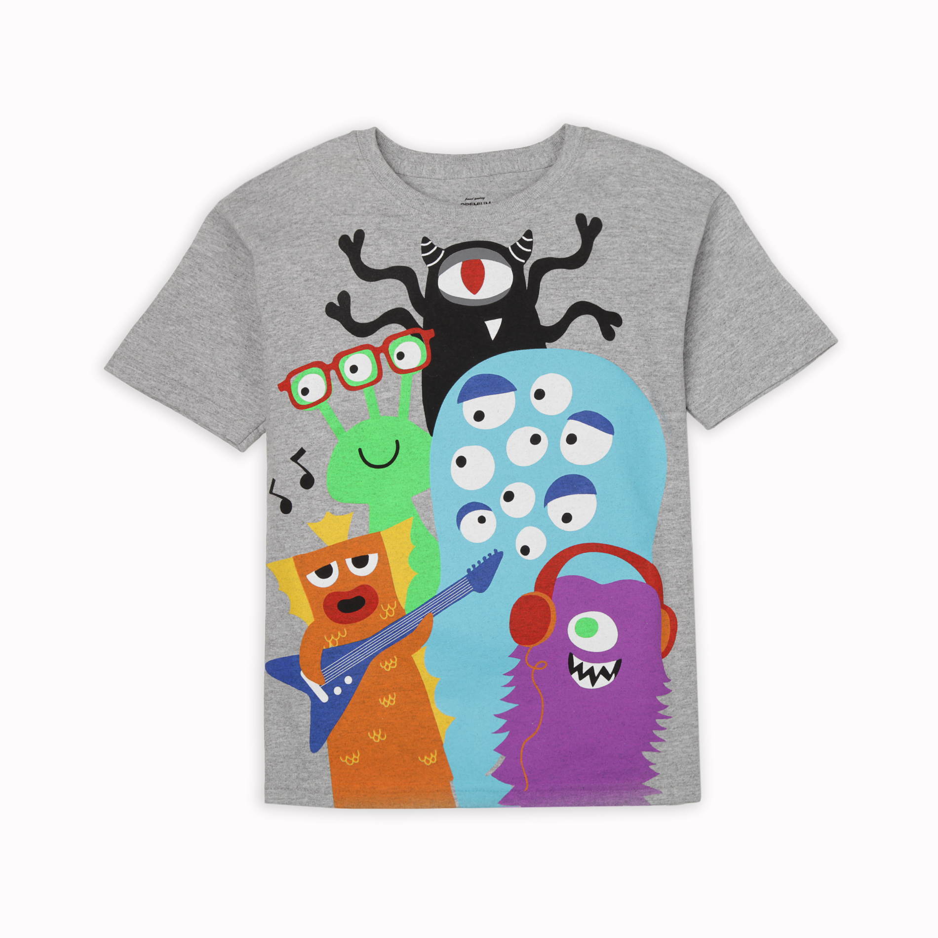 Boy's Graphic T-Shirt - Music Monsters