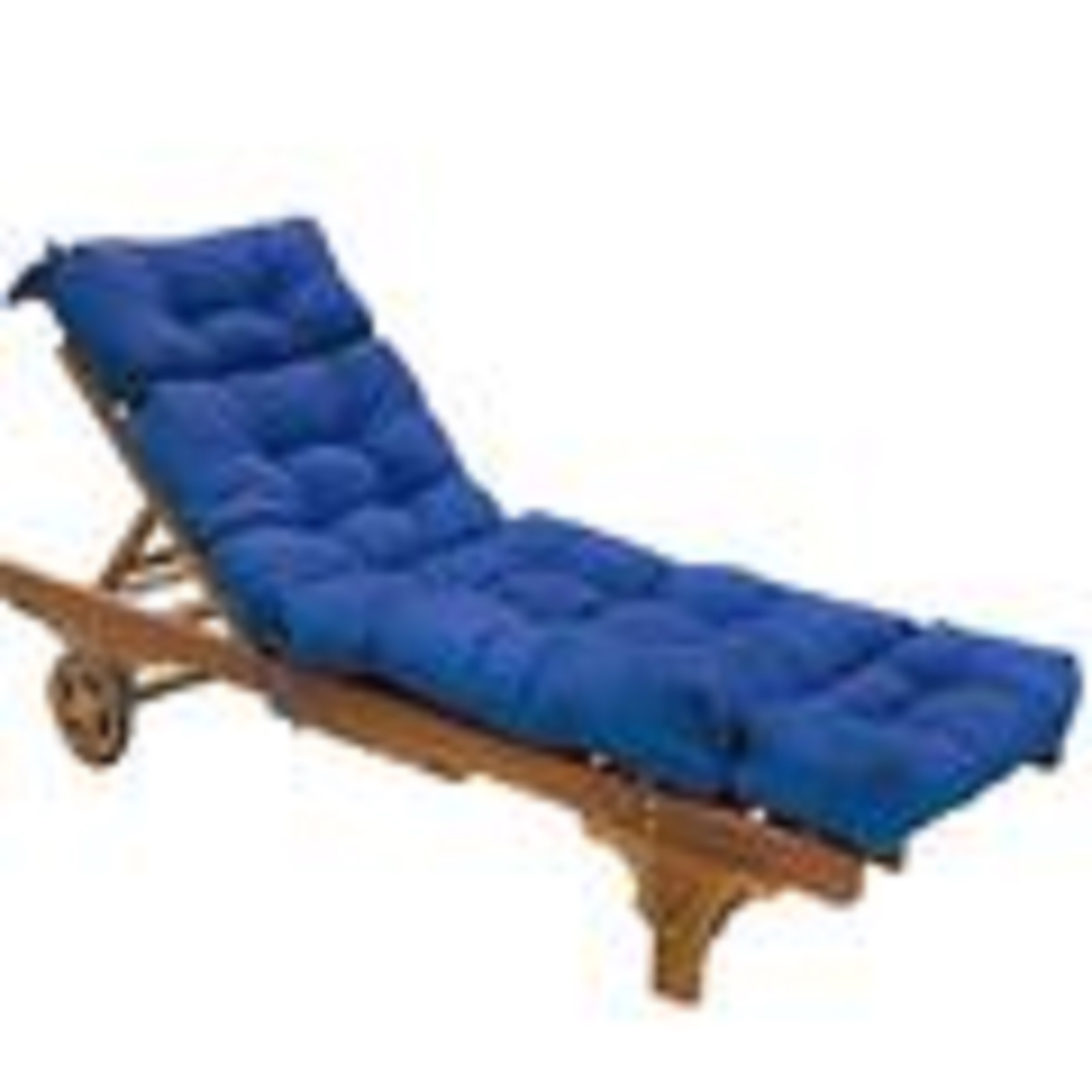 Greendale Home Fashions 72 inch Patio Chaise Lounger Cushion, Capri Blue