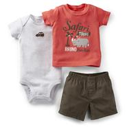 Carter's Newborn & Infant Boy's Bodysuit, T-Shirt & Shorts - Rhino at Sears.com