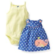 Carter's Newborn & Infant Girl's Bodysuit, Dress & Diaper Cover - Whale at Sears.com