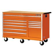 "Craftsman 56"" 10-Drawer Ball Bearing Slides Cabinet With Hard Wood Top, Orange at Kmart.com"