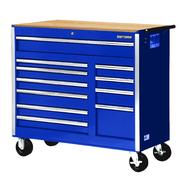 "Craftsman 42"" 11-Drawer Ball Bearing Slides Cabinet With Hard Wood Top, Blue at Kmart.com"