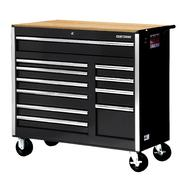 "Craftsman 42"" 11-Drawer Ball Bearing Slides Cabinet With Hard Wood Top, Black at Kmart.com"