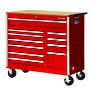 "Craftsman 42"" 11-Drawer Ball Bearing Slides Cabinet With Hard Wood Top, Red at Kmart.com"