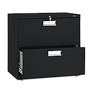 HON 600 Series Two-Drawer Lateral File, 30w x19-1/4d, Black at Sears.com