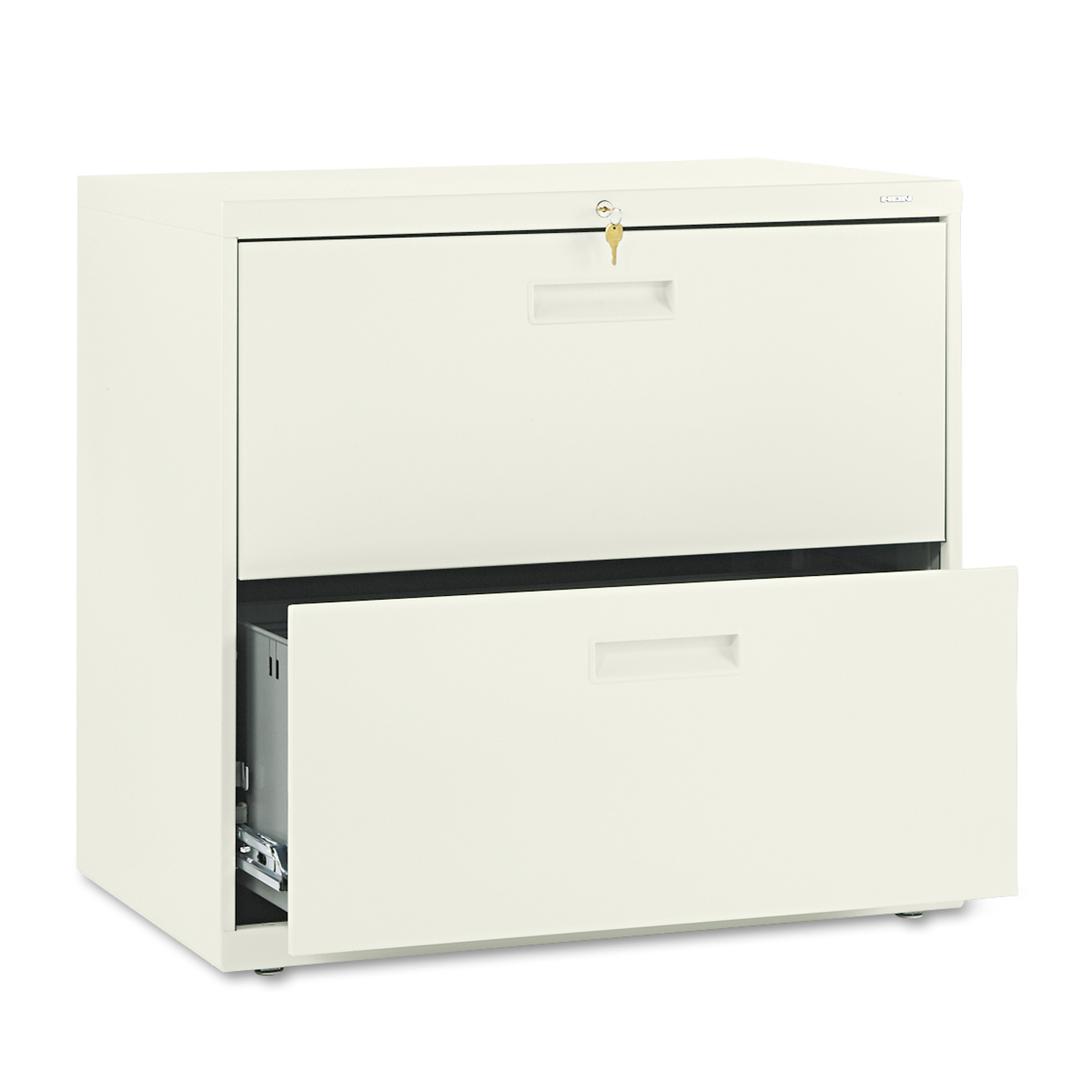 HON 500 Series Two-Drawer Lateral File, 30w x28-3/8h x19-1/4d, Putty PartNumber: 05029457000P KsnValue: 7052553 MfgPartNumber: HON572LL