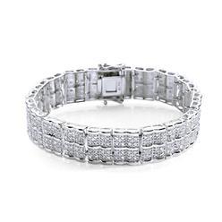 Rhodium Plated 2.00Cttw. Diamond Straight Line Bracelet at Kmart.com