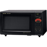Sharp 0.9 Cu. Ft. 900W Grill 2 Convection Microwave-Black at Sears.com