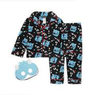 Joe Boxer Toddler Boy's Fleece Pajamas & Sleep Mask - Monster at Kmart.com