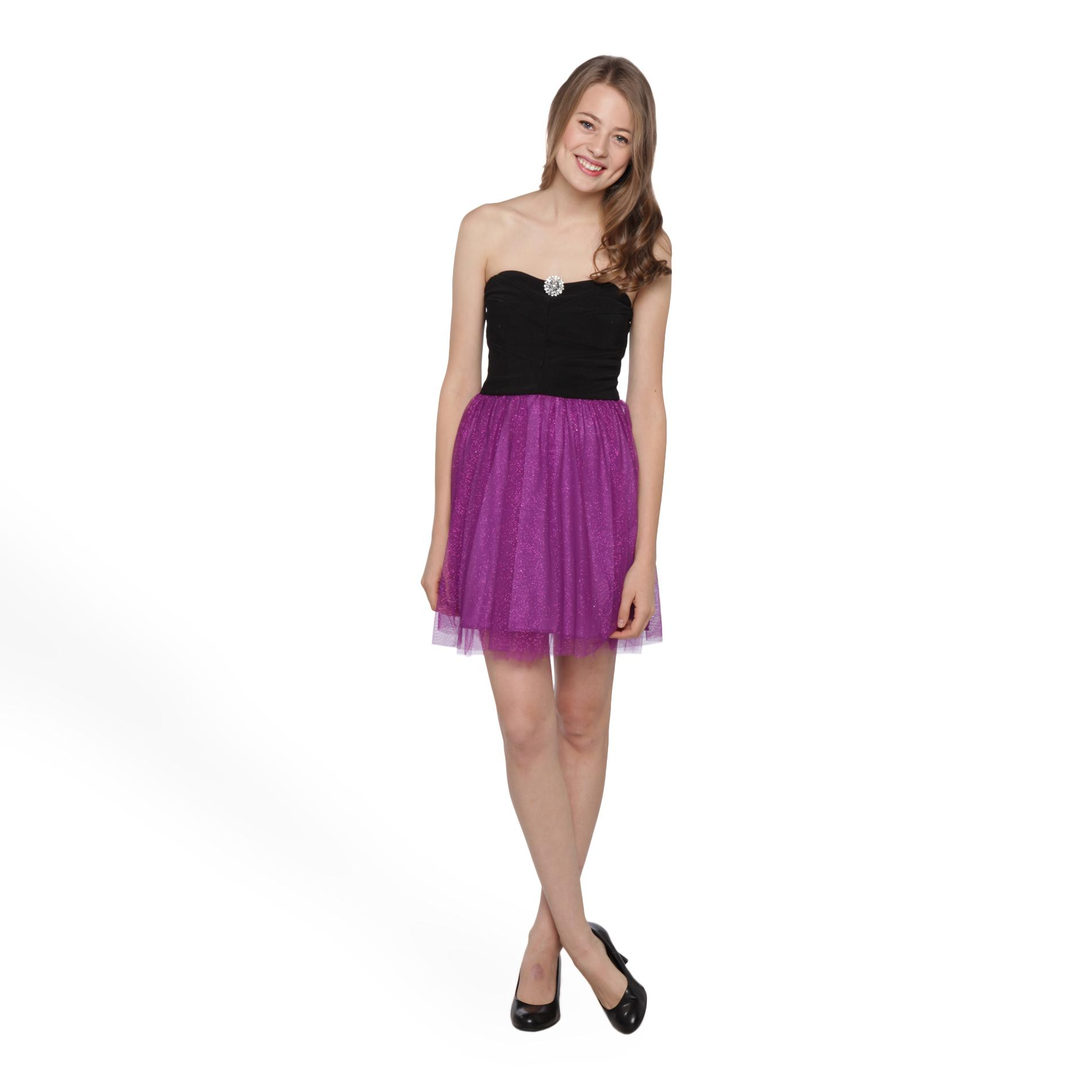 Ruby Rox Junior's Strapless Glitter Skirt Party Dress at Sears.com