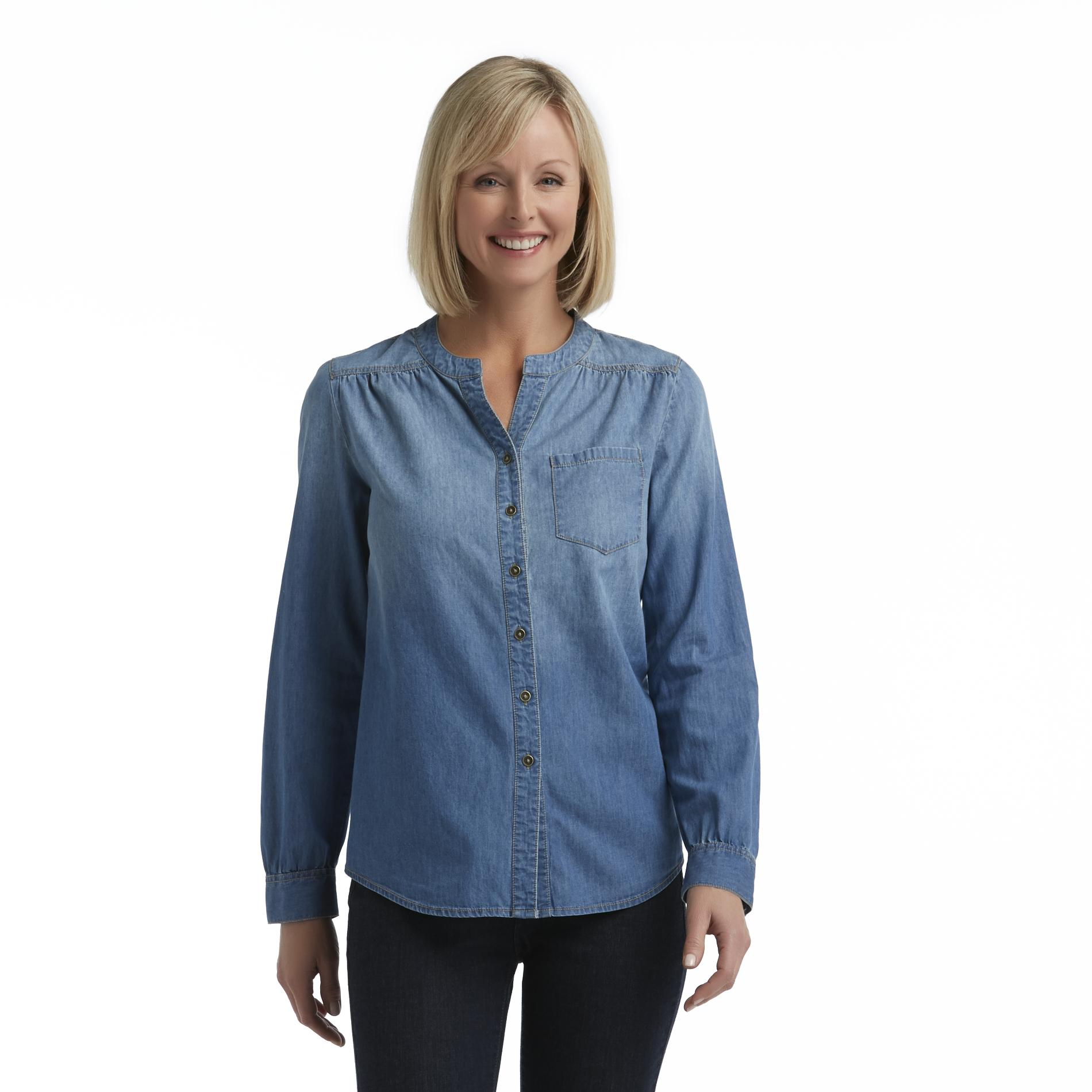Jaclyn Smith  Women's Long-Sleeve Denim