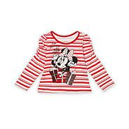 Disney Baby Minnie Mouse Infant & Toddler Girl's Long-Sleeve Christmas Top - Stripes at Kmart.com