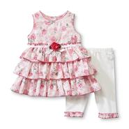 WonderKids Infant and Toddler Girl's Burnout Dress & Leggings - Floral at Kmart.com