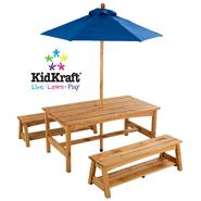 Kidkraft Table and Benches with Blue Umbrella at Kmart.com