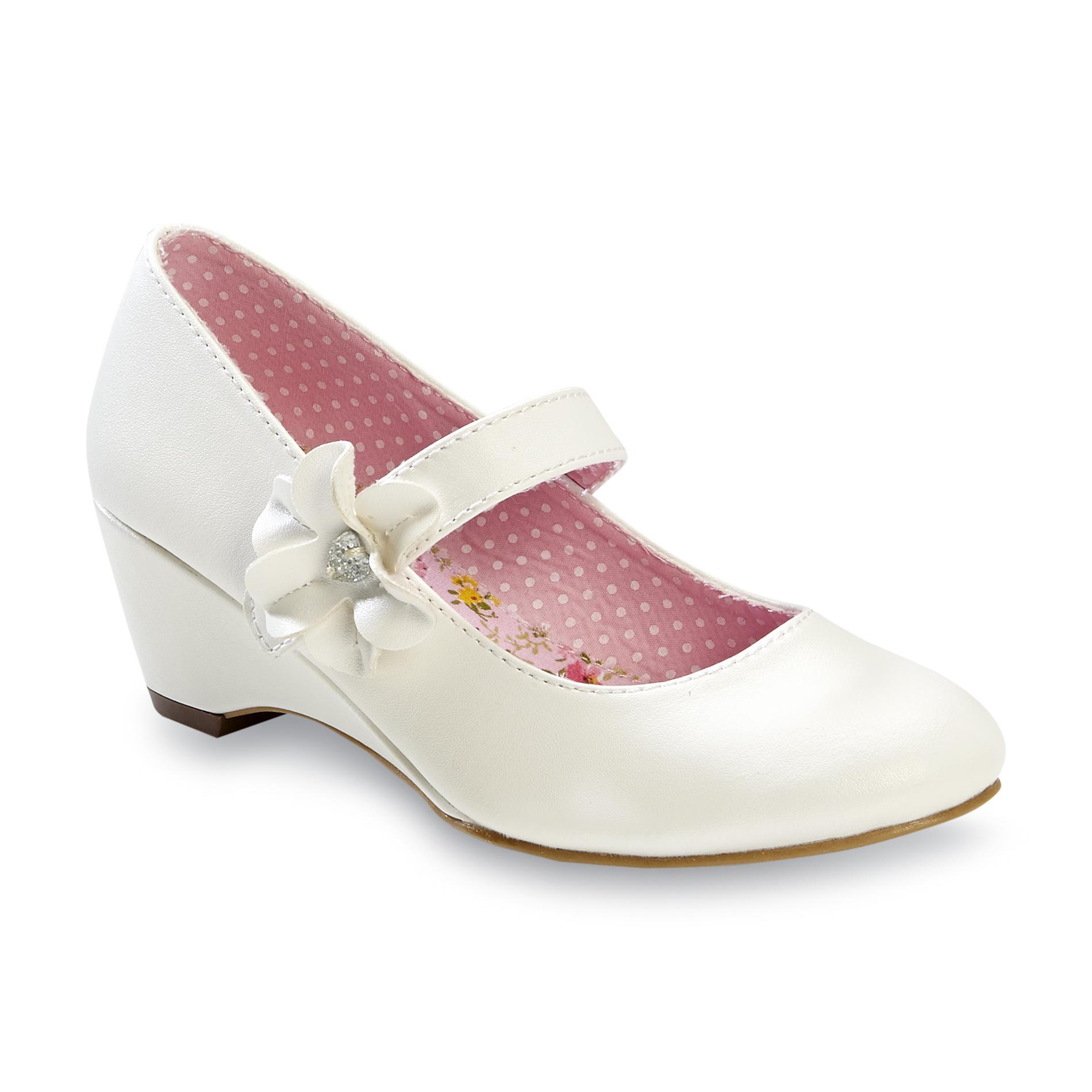 Wonderkids Girl S Inez White Mary Jane Dress Shoe Shoes