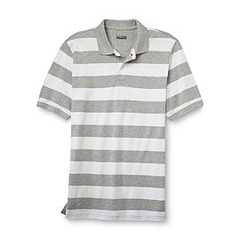 Basic Editions Men's Pique Polo Shirt - Striped at Kmart.com