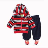 Sesame Street Elmo Newborn Boy's Fleece Hoodie & Footie Pants - Striped at Kmart.com