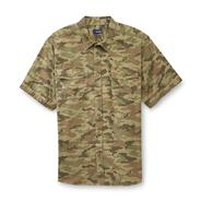 Basic Editions Men's Big & Tall Short-Sleeve Woven Shirt - Camouflage at Kmart.com