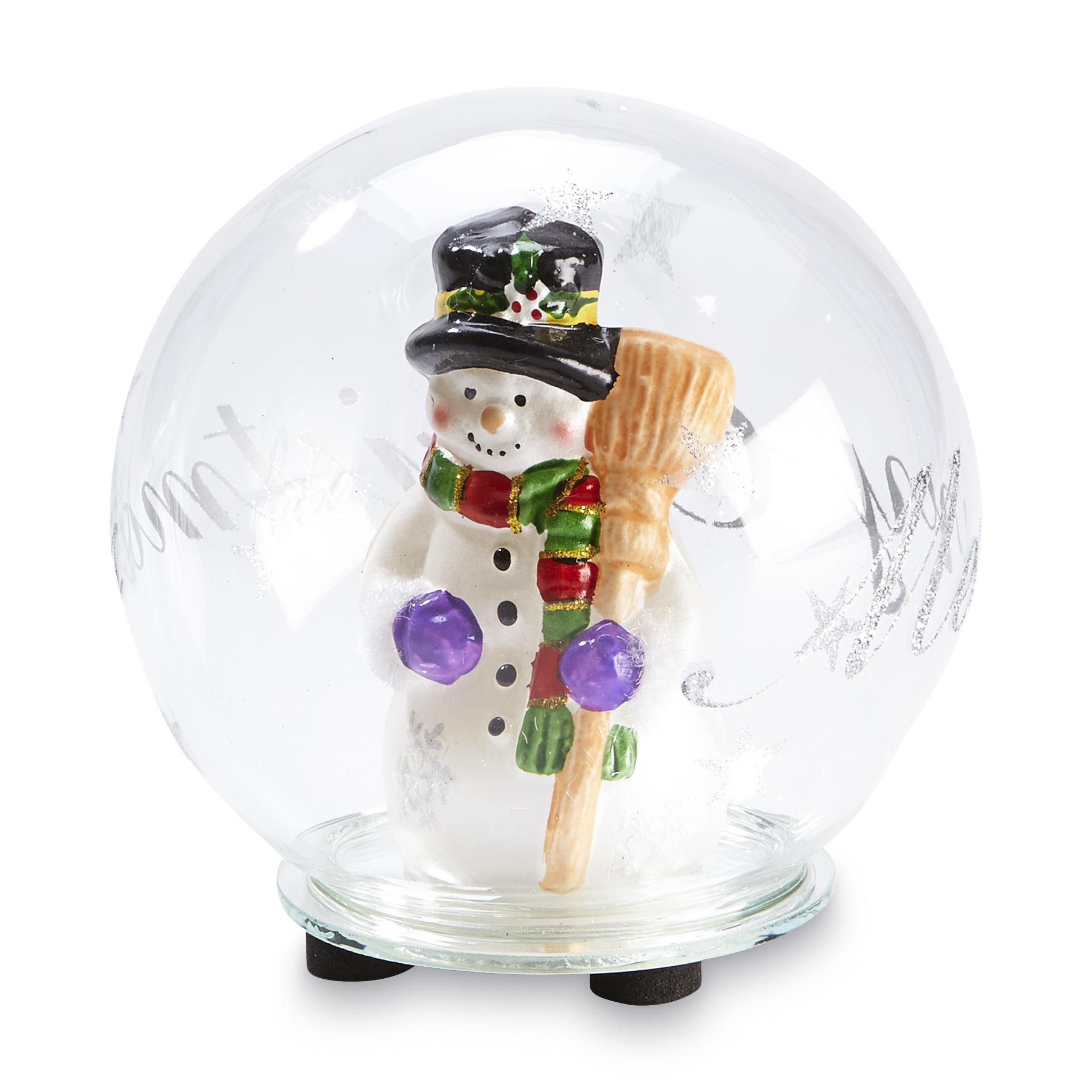 Image of Evergreen LED Snowman Globe