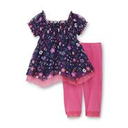 WonderKids Infant & Toddler Girl's Babydoll Top & Leggings - Floral at Kmart.com
