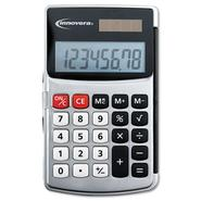 Innovera Handheld Calculator, 8-Digit, Dual Power, Silver at Kmart.com