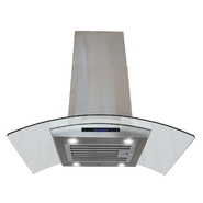 "AKDY 30"" Island Mount Stainless Steel Range Hood Kitchen Stove Vent D01(IS)-30R at Sears.com"