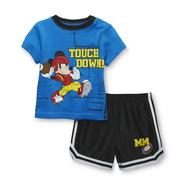 Disney Baby Newborn Boy's Shirt & Shorts Set - Mickey Mouse Football at Kmart.com