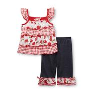 WonderKids Infant & Toddler Girl's Ruffled Top & Jeans at Kmart.com