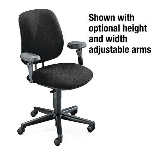 7700 Series Black Swivel Task Chair, Olefin Fabric