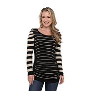 Metaphor Women's Shirred Tunic Sweater - Striped at Sears.com