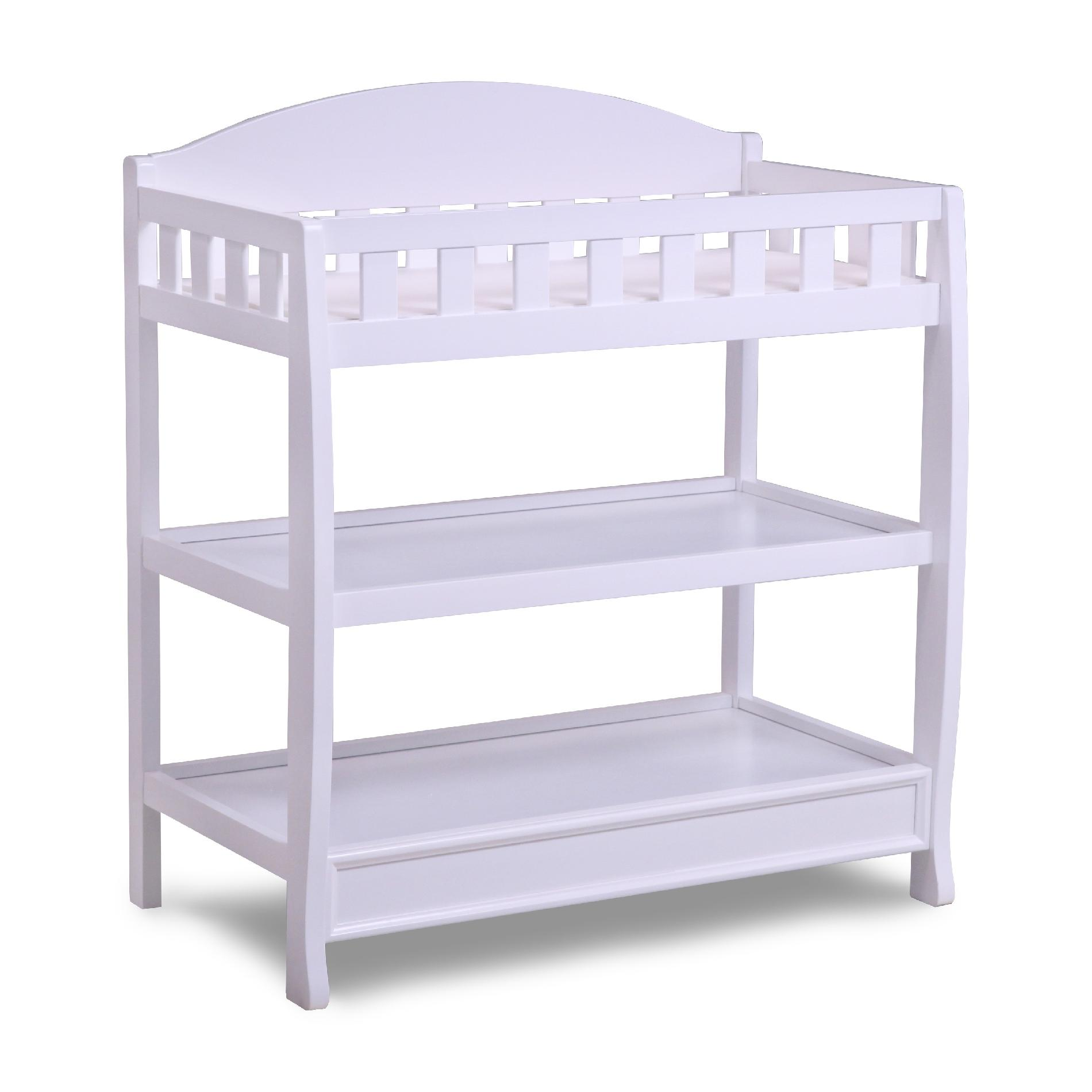 Delta Children White Changing Table with Pad