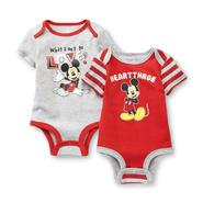 Disney Baby Mickey Mouse Newborn Boy's 2-Pack Bodysuits at Kmart.com
