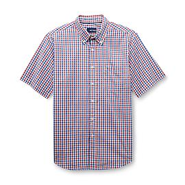 Basic Editions Men's Button-Front Shirt - Checked at Kmart.com