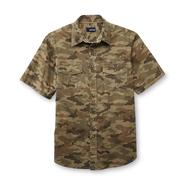 Basic Editions Men's Short-Sleeve Woven Shirt - Camouflage at Kmart.com