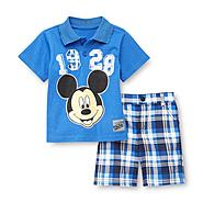 Disney Baby Infant & Toddler Boy's Polo Set - Mickey Mouse at Kmart.com
