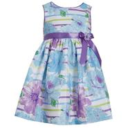 Ashley Ann Infant & Toddler Girl's Pleated Party Dress - Stripes & Flowers at Sears.com