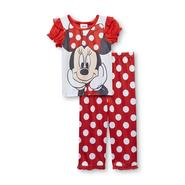 Disney Baby Minnie Mouse Infant & Toddler Girl's Pajama Shirt & Pants - Polka Dot at Kmart.com