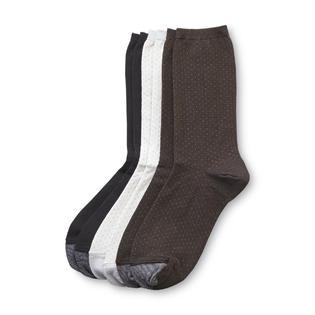Silvertoe Women's Cotton Crew Socks - 3 Pairs