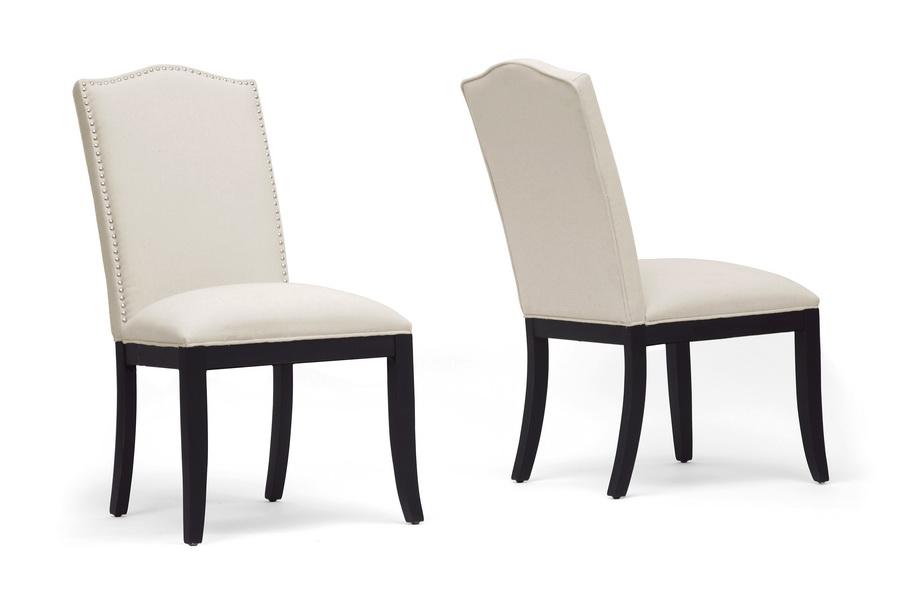 Baxton Studio Tyndall Beige Linen Modern Dining Chair