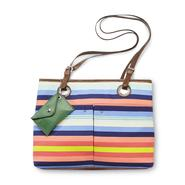 Jaclyn Smith Women's Vivica Satchel Handbag - Multicolor Striped at Kmart.com