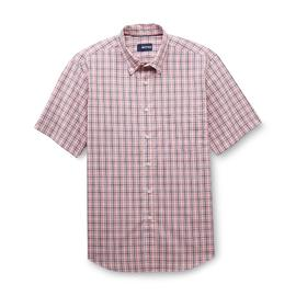 Basic Editions Men's Button-Front Shirt - Plaid at Kmart.com