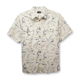 Basic Editions Men's Short-Sleeve Woven Shirt - Swordfish at Kmart.com