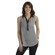 Heart Soul Junior's Sleeveless Blouse - Geometric at Sears.com