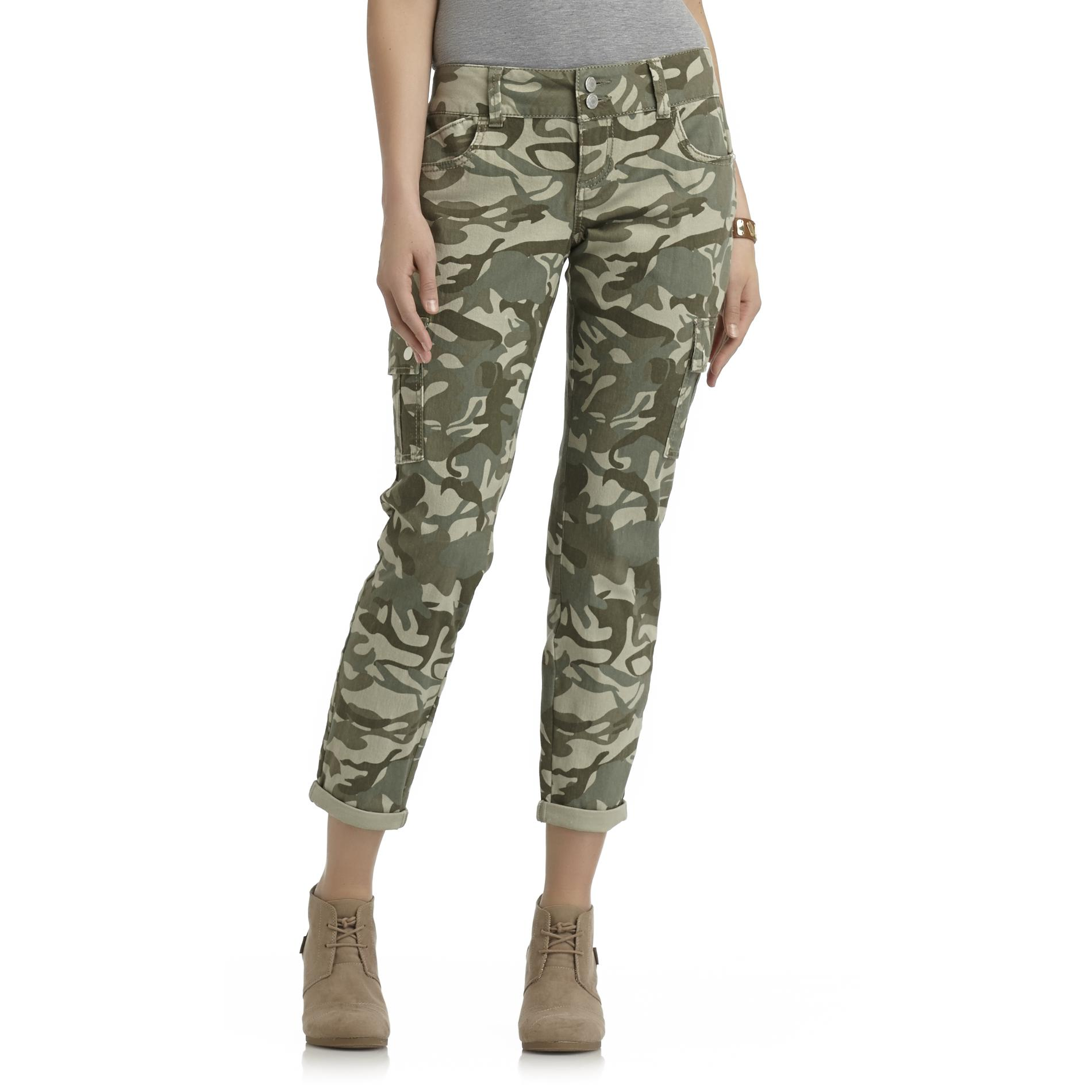 Bongo Junior's Cropped Skinny Cargo Pants - Camouflage at Sears.com