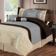 Lavish Home Samantha 7 Piece Embroidered Comforter Set at Kmart.com