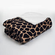 Lavish Home Animal Print Fleece Blanket with Sherpa Backing at Kmart.com