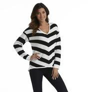 Canyon River Blues Women's V-Neck High-Low Sweater - Striped at Sears.com