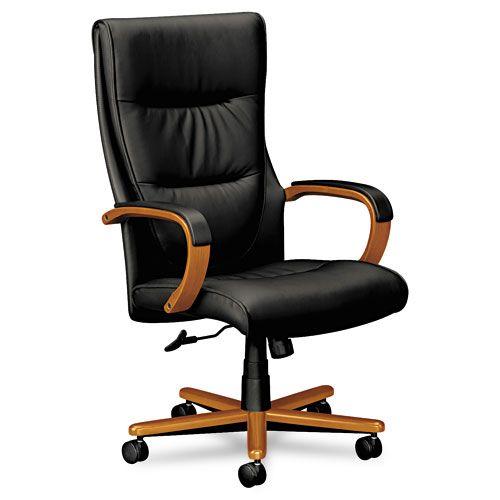 Basyx VL844 Series High Back Swivel/Tilt Leather Chair